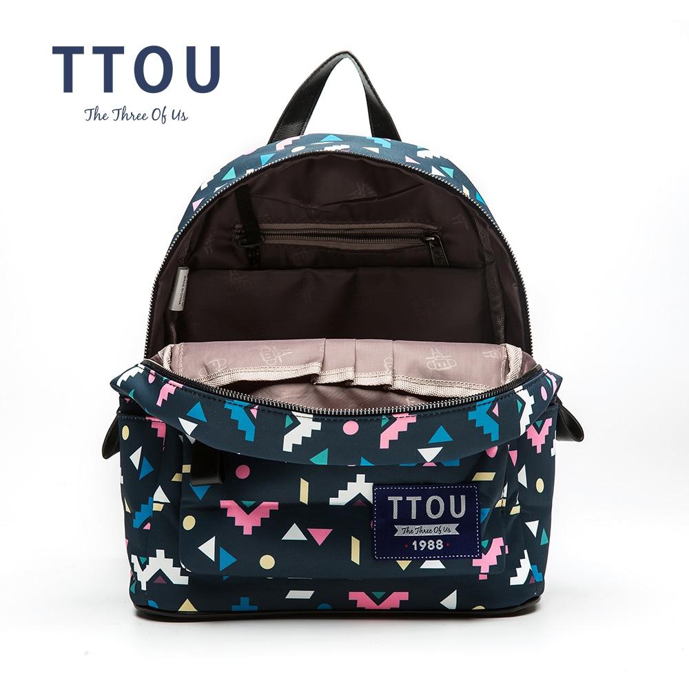 TTOU дизайн цветни триъгълник печат - Раници - Снимка 6