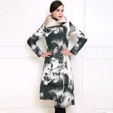Winter down jacket long personality lapel lingerie Coat Parka women thick thin irregular cotton jacket