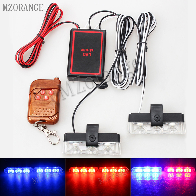 Best Waterproof DC 12V Wireless Remote 3 LED Ambulance Police Light Controll Flasher Car Strobe Warning Emergency External Light