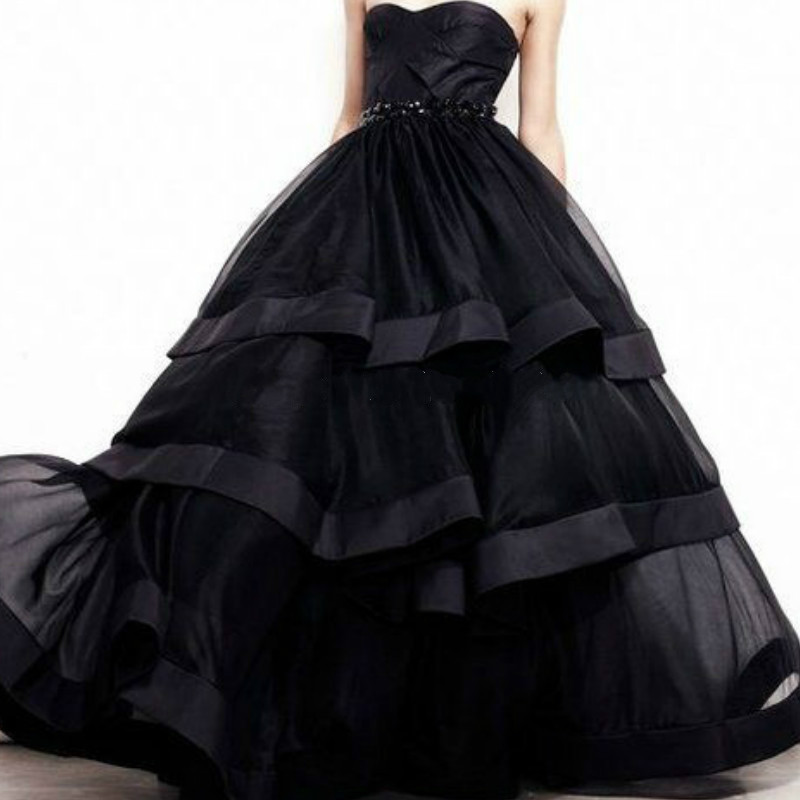 Vestido 15 Anos Negro Quinceañera Vestidos De Organza Cariño