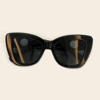 2019 New Retro Cat Eye Sunglasses European and American Trend Ladies Big Box Sun Glasses Luxury Brand Designer Fashion Eyewear