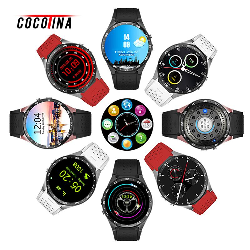 COCOTINA KW88 Smart Watch Bluetooth Aluminum GPS Heart Monitor Wifi Quad Core Android 5.1 3G Smart Watch Camera SMS IOS smart baby watch q60s детские часы с gps голубые