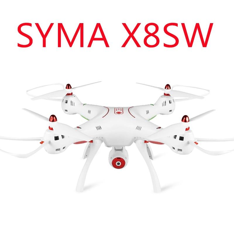 Original Syma X8SW Wifi FPV 720P HD Camera Drone 2.4G 4CH 6-Axis RC Quadcopter with Barometer Set Height RTF big Helicopter gift original syma x8sw wifi fpv hd camera drone 2 4g 4ch 6 axis rc quadcopter with barometer set height mode rtf toys