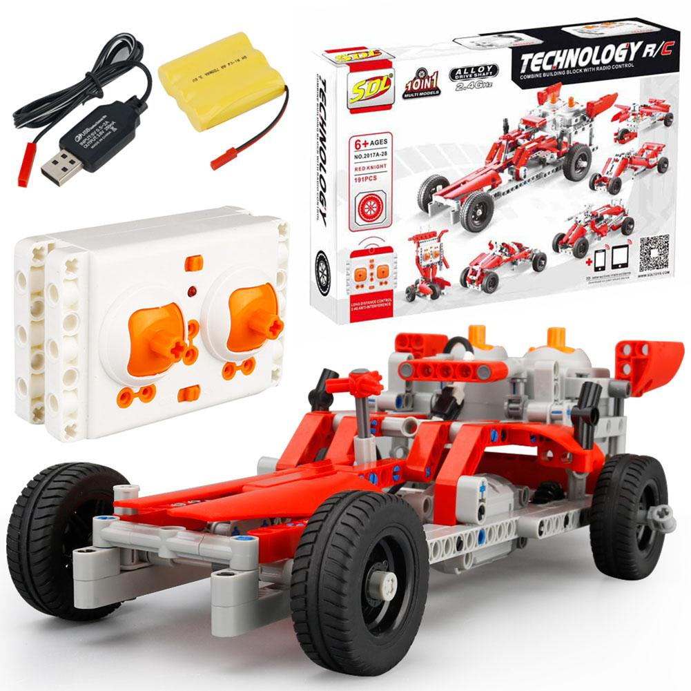 LeadingStar Simulation Remote Control Car Building Blocks DIY Toy Educational Toy for Kids zk49