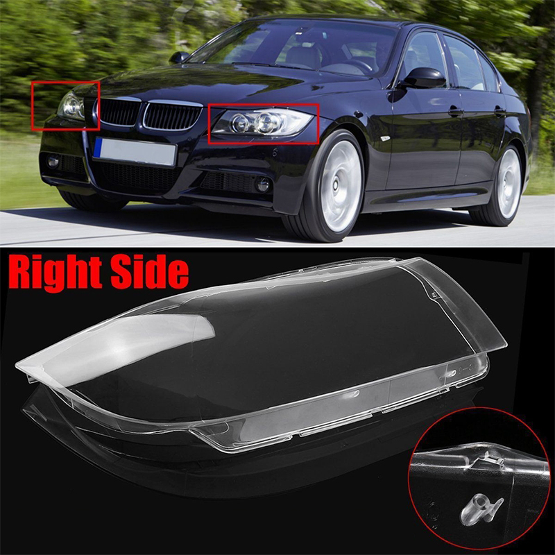 1pc Polycarbonate Right Side Clear Headlight Headlamp Lens Cover for BMW 3 Series E90 2006-2012 Car Lights Headlight Lamp Case ltech lt 403 6a dali led dimming driver dc12 24v input 6a 3ch max 18a output led controller for rgb led strip