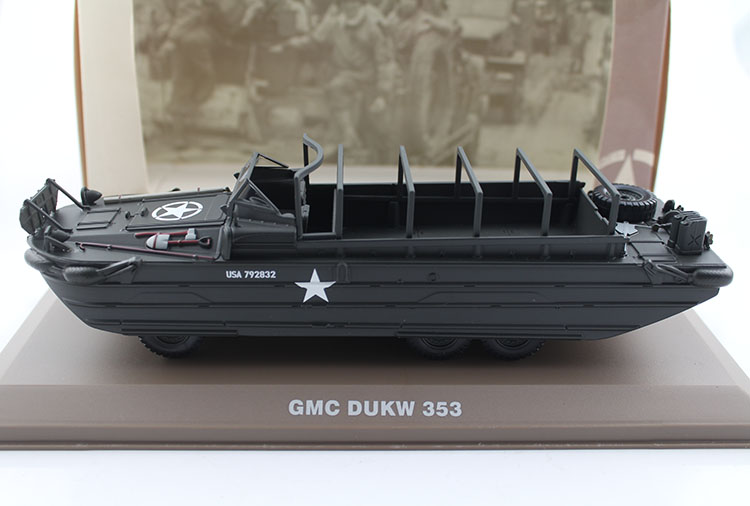 ФОТО Value ATLAS 1:43 World War II US Army GMC DUKW 353 Wheeled amphibious landing vehicle Alloy collection model Holiday gifts