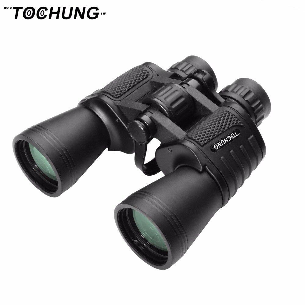 TOCHUNG metal binoculars 10x50 professional hunting binoculars military binoculars bak4 prism optics camping hunting scopes