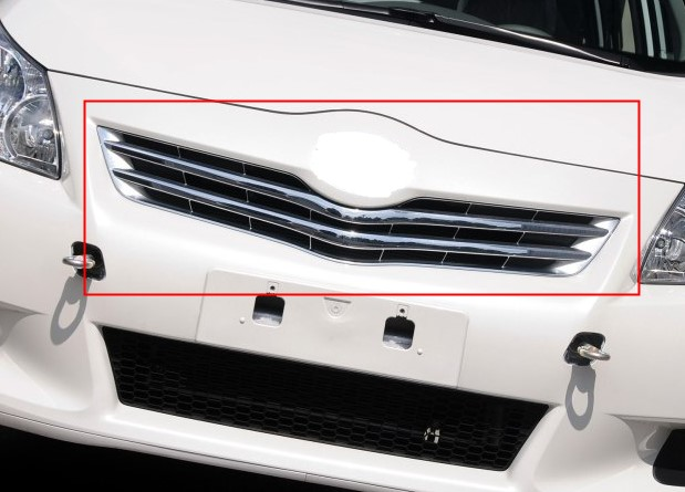 For T0Y0TA EZ Verso 2012 2013 2014 Car body cover detector ABS chrome trim Front racing Grid Grill Grille frame 1pcs car panel body cover protection trim front up grid grill grill racing 1pcs for nissan march 2011 2012 2013 2014 2015 2016 2017