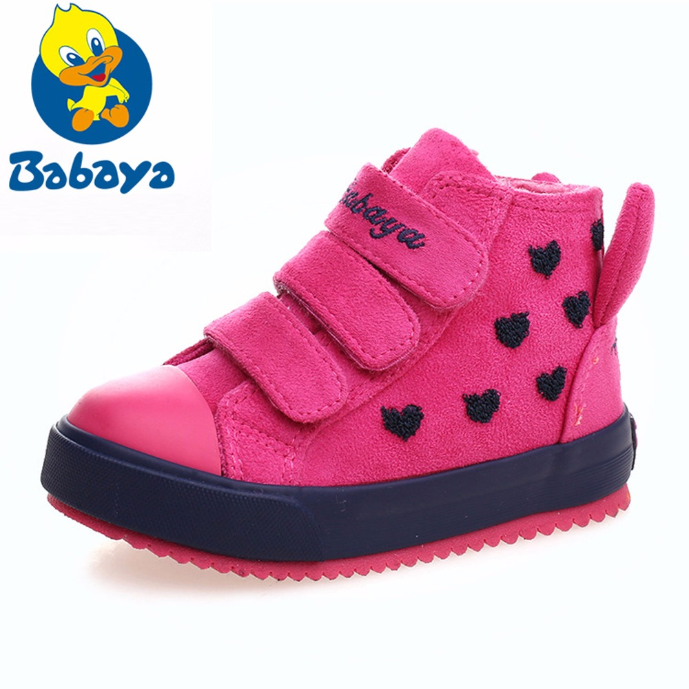 Winter Rubber Girls Boots Kid Toddler Snow Boats Warm Children Shoes Girl Flock Leather Plush Platform Flat Sneaker Botte Enfant