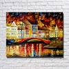 Gold Color Builing Near Rive Scenery Beautiful Landscape Oil Painting Free Shipping Wall Pictures For Living