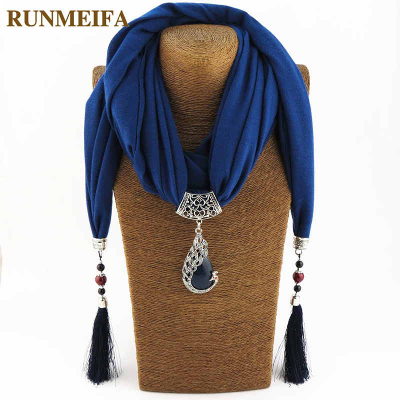 RUNMEIFA Pendant Scarf Necklace Hijab Foulard Femme-Accessories Stores Jewelry-Statement