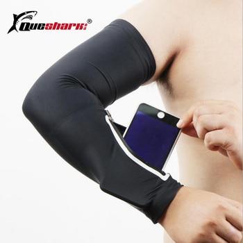 Elastic Pocket Cycling Arm Warmer Phone Arm Bag Climbing Hiking Running Arm Sleeve Bag Sport Armband with Wrist Pocket Phone Bag