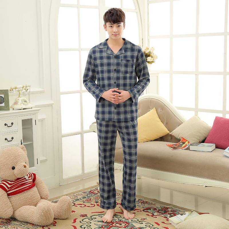 Men\'s Cotton Polyester Pajama Sets RBS-C LYQ1414 43