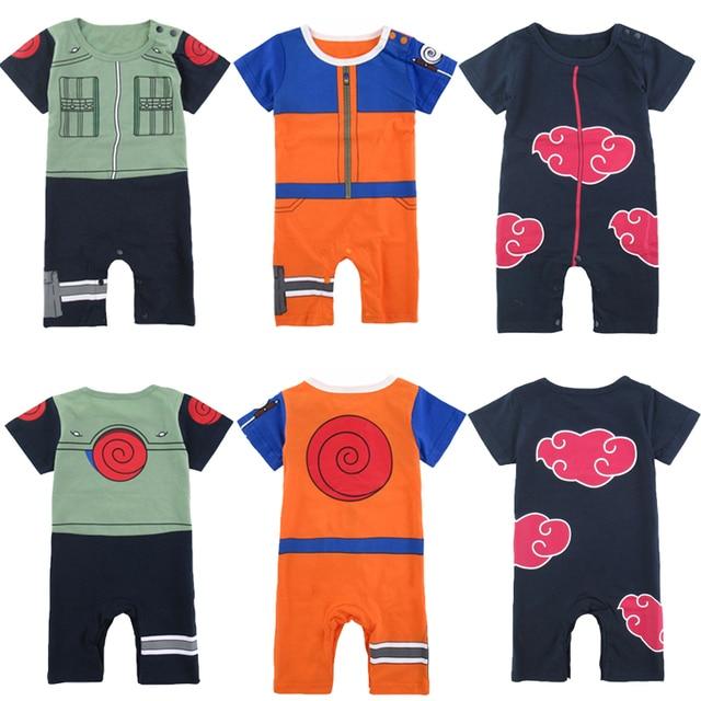 d4e2acd8c43c Baby Boy Akatsuki Costume Romper Funny Infant Uzumaki Naruto Hatake ...
