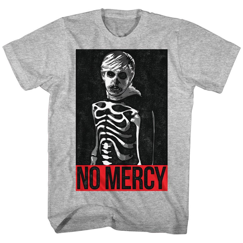 Карате малыш NO MERCY серый меланж Для мужчин взрослых короткий рукав Футболка, Для мужчин футболка дешевой цене Топ Tee