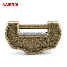 NAIERDI 34*20mm candado chino estilo antiguo candado de aleación de Zinc bronce caja de la joyería del pecho candado de madera cajón de la maleta