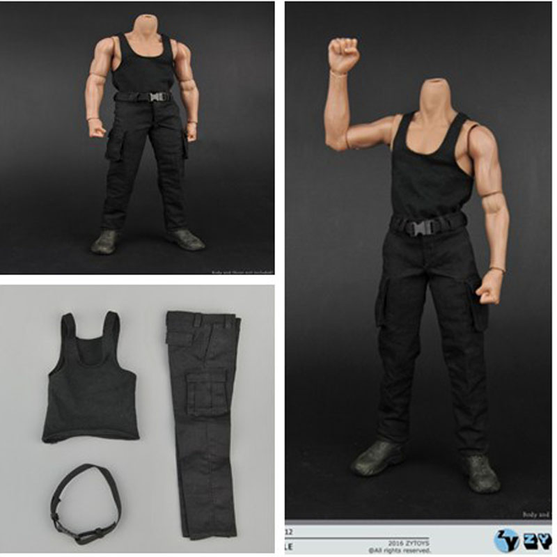Lukcytoy 1/6 Black Stallone Rambo Vest Combat Trousers Clothing for 12in Figure Doll Model L50 Collection Solider Toys beatsteaks berlin
