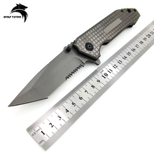 356 Brand Folding Knife 5Cr13 Blade Steel Handle Titanium Pocket Hunting Tactical Combat Knives Outdoor Camping Survival Tools