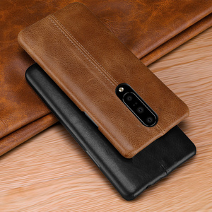 Image 1 - For OnePlus 7/ Pro Case Genuine Leather Case For OnePlus 6 6T Case Cover Luxury Stitching Leather Back Case For OnePlus 7 Pro 6T