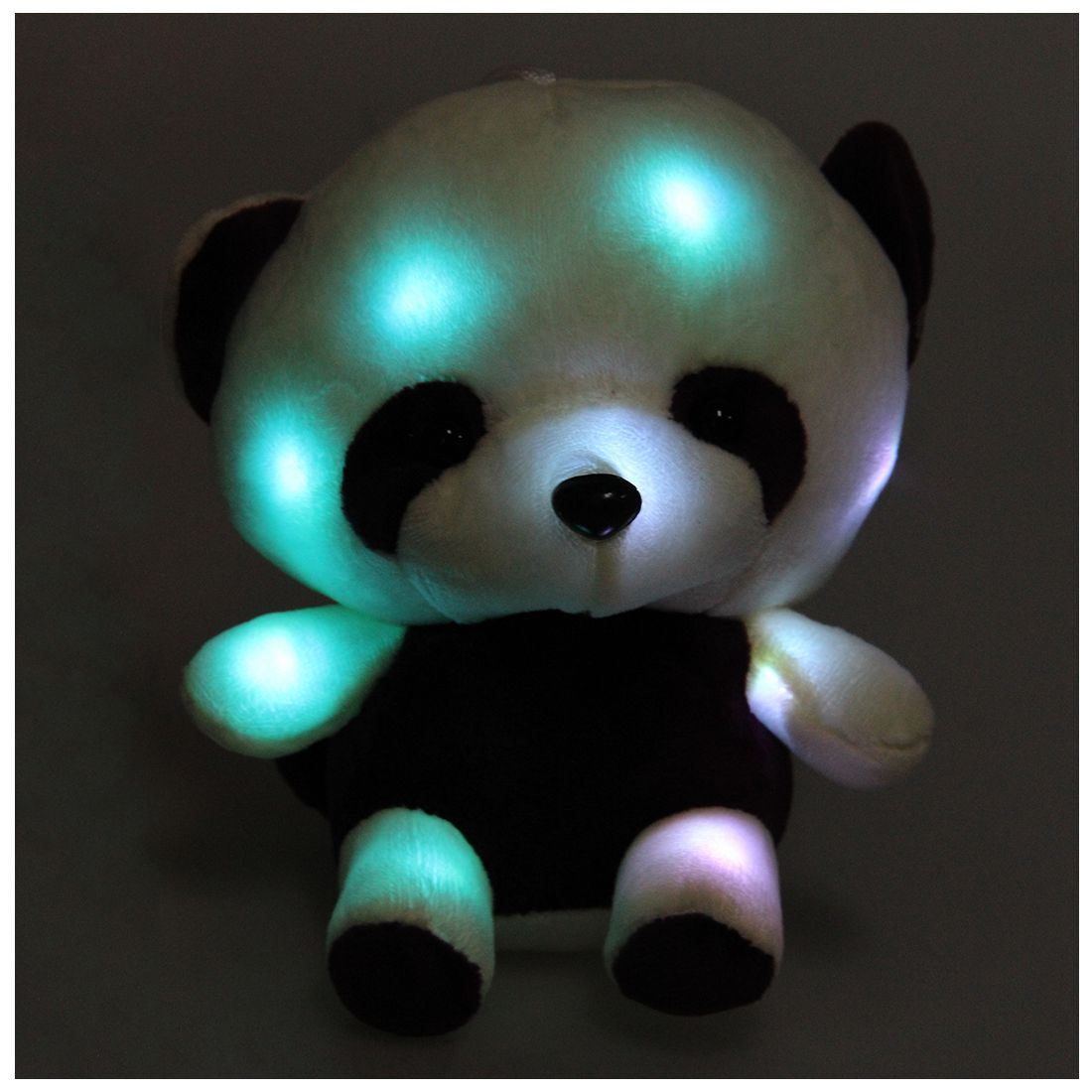 Colorful shining led light throw pillow Lovely Colorful flash LED light plush raccoon doll cute luminous stuffed toy gifts lovely giant panda about 70cm plush toy t shirt dress panda doll soft throw pillow christmas birthday gift x023