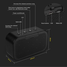 Bluetooth Speaker and Built-in Microphone Stereo Rock Sound