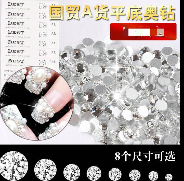 200 Cabochons Strass Diamant Conique Résine Couleur Crystal 3mm Grade AAA