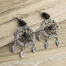 Dream cather Blue pine stone dream catcher ear stud necklace creative design valentines day girls gift