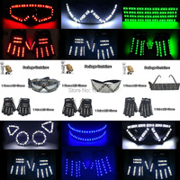 YUEHUI Cool Party Decorative Glow Party Supplies Lighting Classic Gift Set LED Party Glasses +LED Gloves For Rave DJ Night Club
