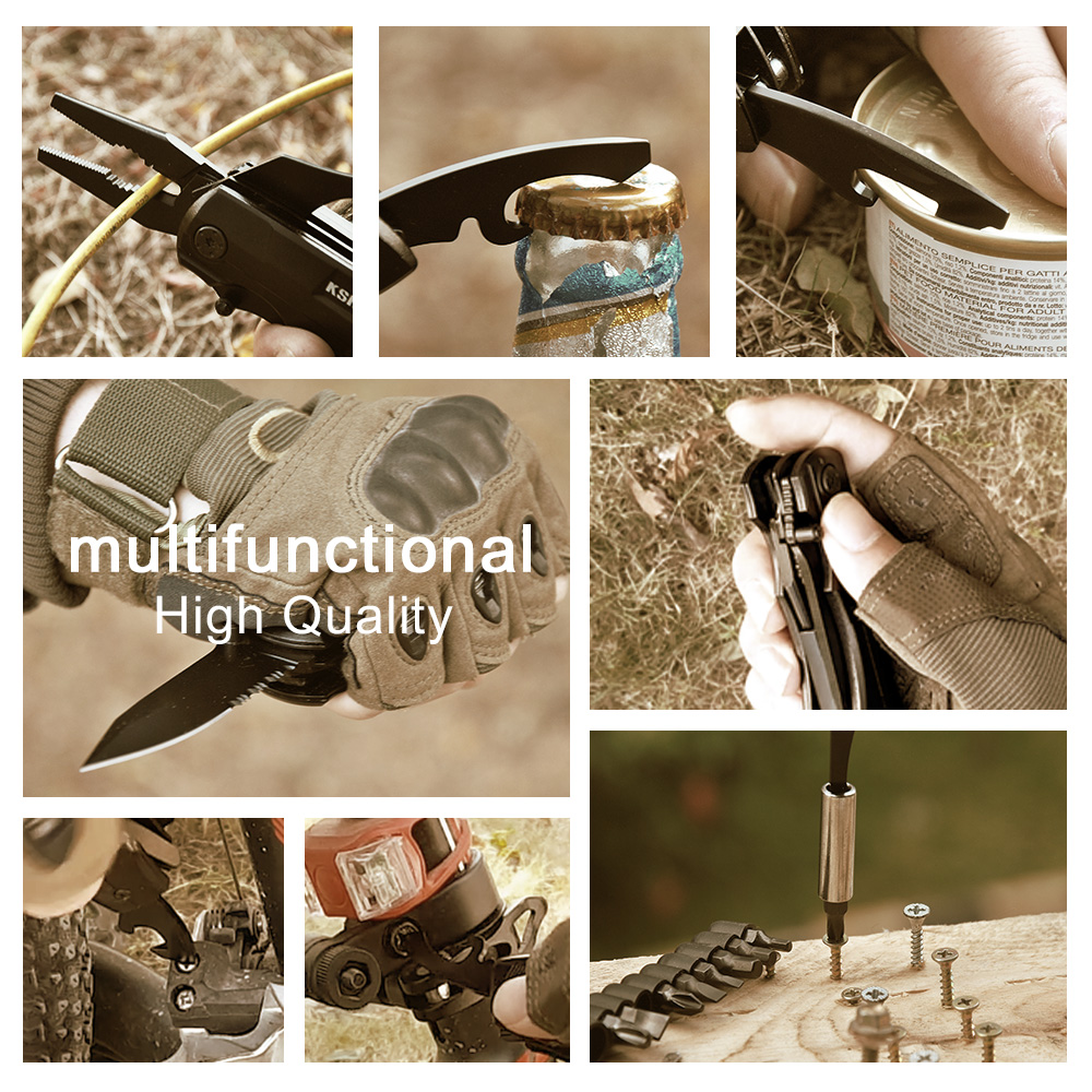 Image 5 - Multifunctional Folding Pliers Cable Cutter Outdoor Pocket Camping Military Survival Knife Hunting Bottle Opener Multitool Knife-in Pliers from Tools