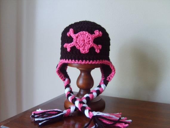 Free Shippingchildrens Earflap Hat100 Cotton New Baby Crochet