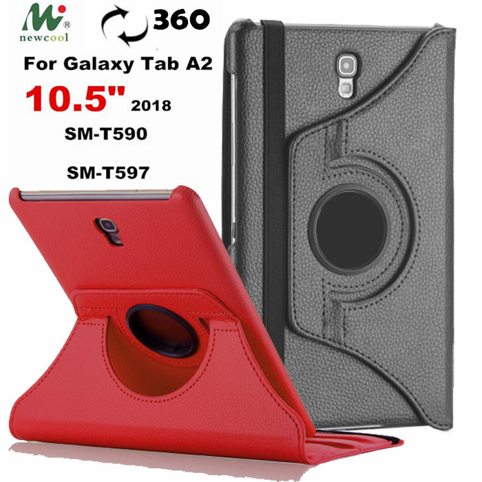 Tab A 10.5 360 rotating PU Leather Case Flip Cover  For Samsung Galaxy Tab A A2 10.5 T590 T595 T597 SM-T590 2018 tablet caseTab A 10.5 360 rotating PU Leather Case Flip Cover  For Samsung Galaxy Tab A A2 10.5 T590 T595 T597 SM-T590 2018 tablet case