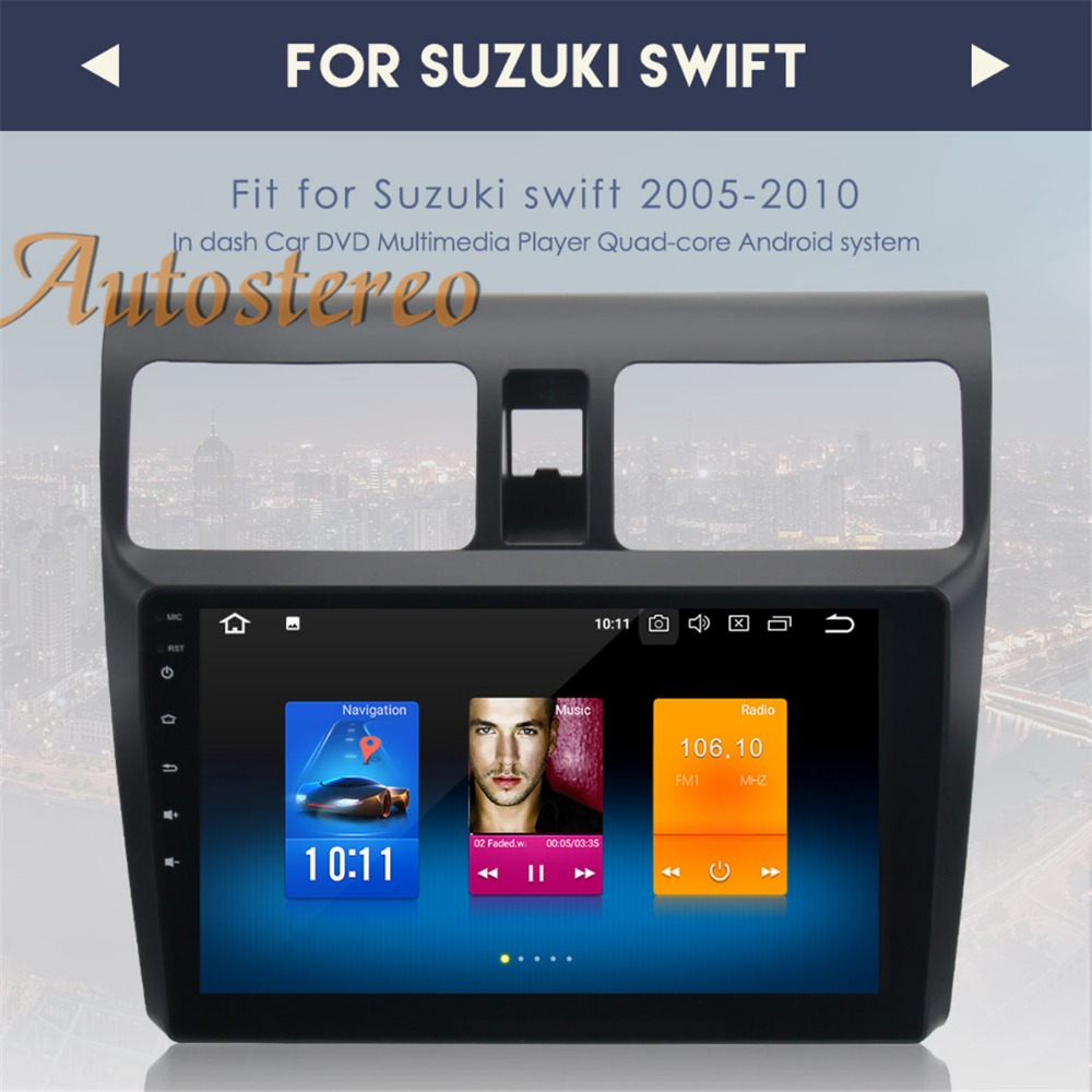 Newest Android8 0 4G RAM font b Car b font GPS navigation multimedia For SUZUKI SWIFT