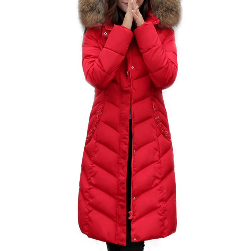 Fashion Winter Long Style Parka 2016 Slim Thicken Hood Jackets Coats Fur Collar Padded Cotton Outwear Manteau Femme kp1397 2017 slim fit fashion mens fur parka mens jackets and coats black blue jaquetas masculina inverno cotton padded parka homme