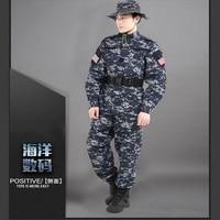US Camouflage Uniform navy military uniform Navy Digital Blue ACU Style Uniform Set Digital Navy Blue Camo Shirt With Pants Sets