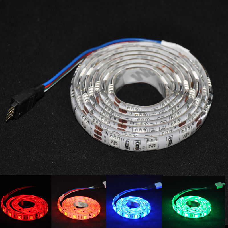 <font><b>1m</b></font> <font><b>rgb</b></font> <font><b>led</b></font> strip smd 5050 fexible light non waterproof ip20 or waterproof ip65 fita de white,warm white,yellow,blue,red,green image