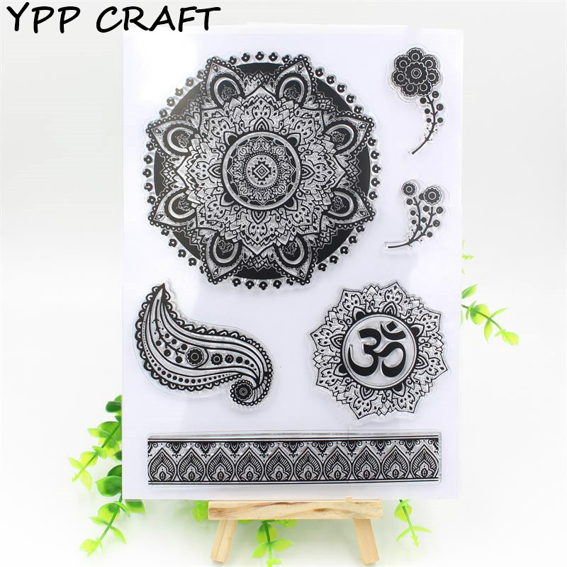 YPP CRAFT Flower Transparent Clear Silicone Stamp/Seal for DIY scrapbooking/photo album Decorative clear stamp sheets about lovely baby design transparent clear silicone stamp seal for diy scrapbooking photo album clear stamp paper craft cl 052