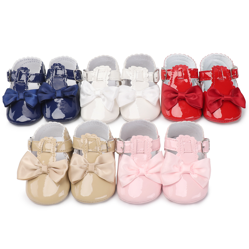PU Leather Baby Girl Shoes Infant Toddler Kids Cute Anti-skid Casual Baby Shoes Spring Autumn Infant Booties First Walker 0-18 M image