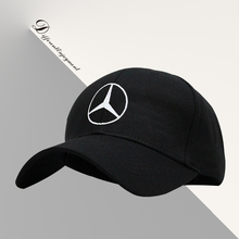 Customized car logo hat cotton washed high-grade fabric Mercedes racing cap Sports baseball cap