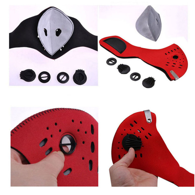 1Pcs Activated Carbon Dust-proof Breathable Mesh Bicycle Face Mask PM2.5 Dust Smog Windproof Protective Mesh 5