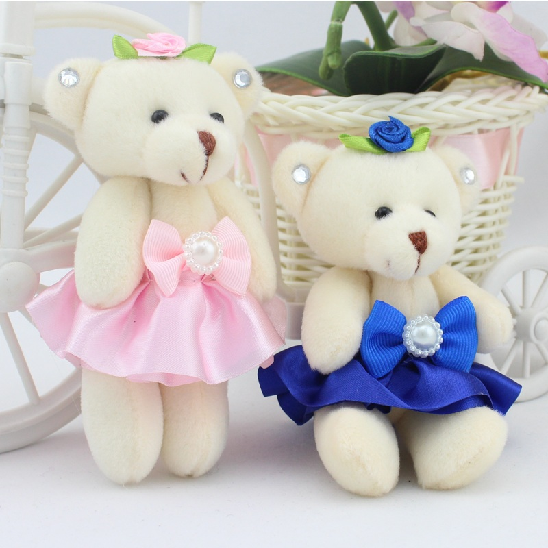 Wholesale Cotton Cartoon Teddy Bear Wedding Doll Gift Baby