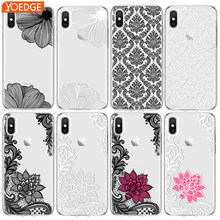 Floral Lace Mandala Cases For iPhone XS Max XS X XR 6 S 7 8Plus For Samsung Galaxy J5 J7 S6 S7 S8 S9 Plus A6 A7 A8 A9 2017 2018(China)