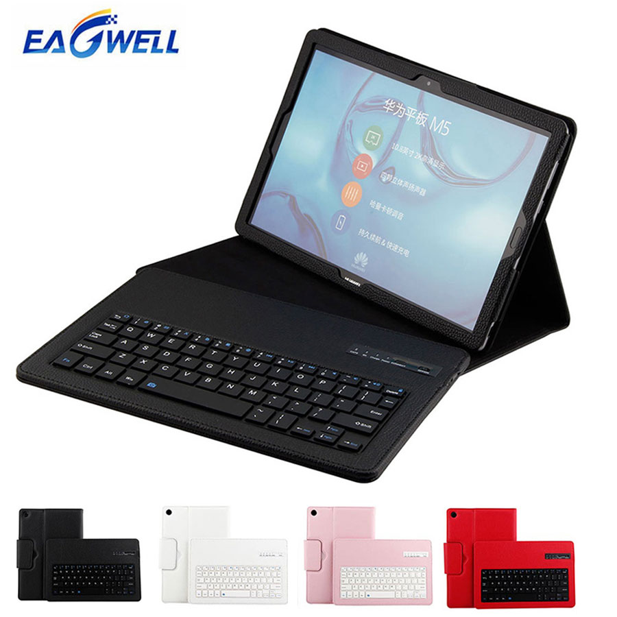 Bluetooth Keyboard Leather Case For Huawei Mediapad M5 10.8 Pro 10.8 inch Removable Wireless Tablet PC Keypad Case Stand Cover case for huawei honor 7x shockproof with stand 360 rotation back cover contrast color hard pc