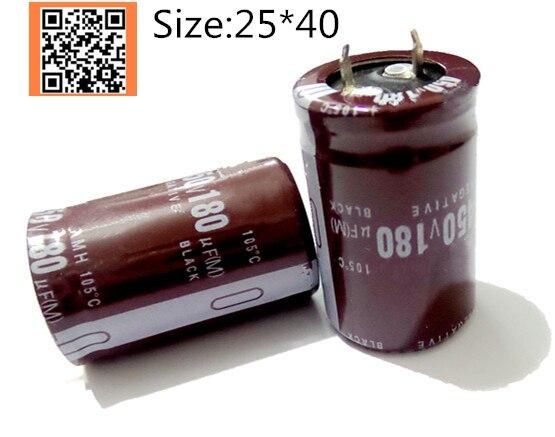 180uf 16v Radial Aluminum electrolytic capacitor 16v180uf 10pcs-