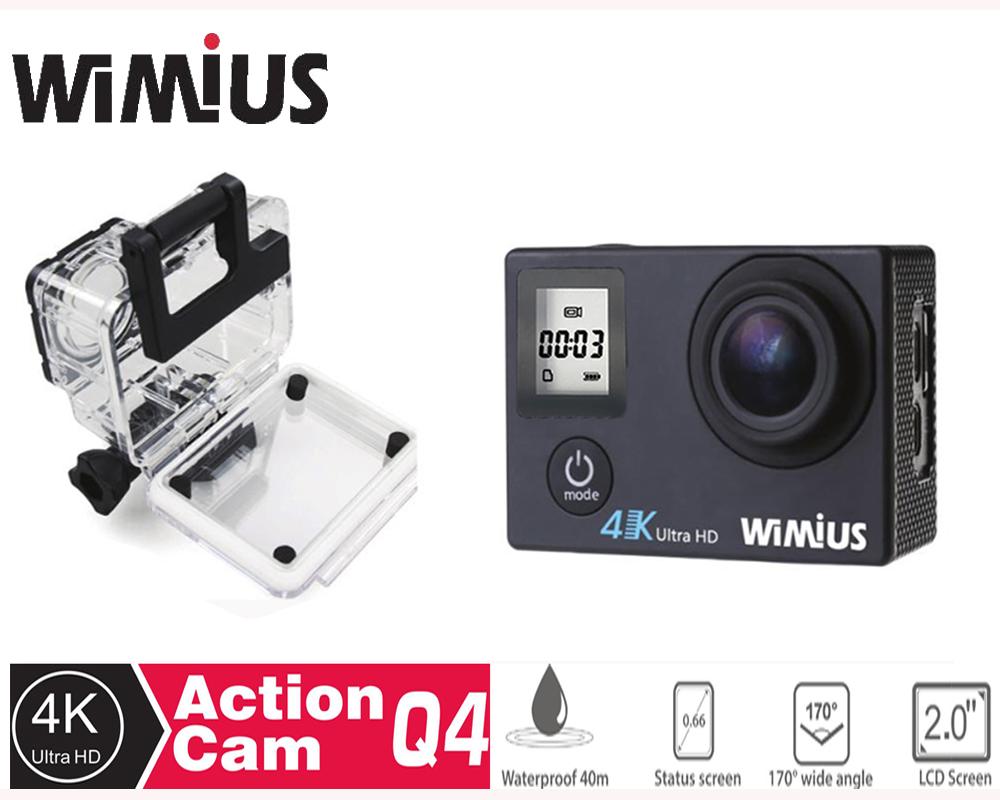 Prix pour Wimius 4 K Wifi Action Camera 1080 p/60fps Mini Vidéo Casque sport Camara DV Caméscope De Voiture DVR aller Étanche 40 M pro + 2 Batteries