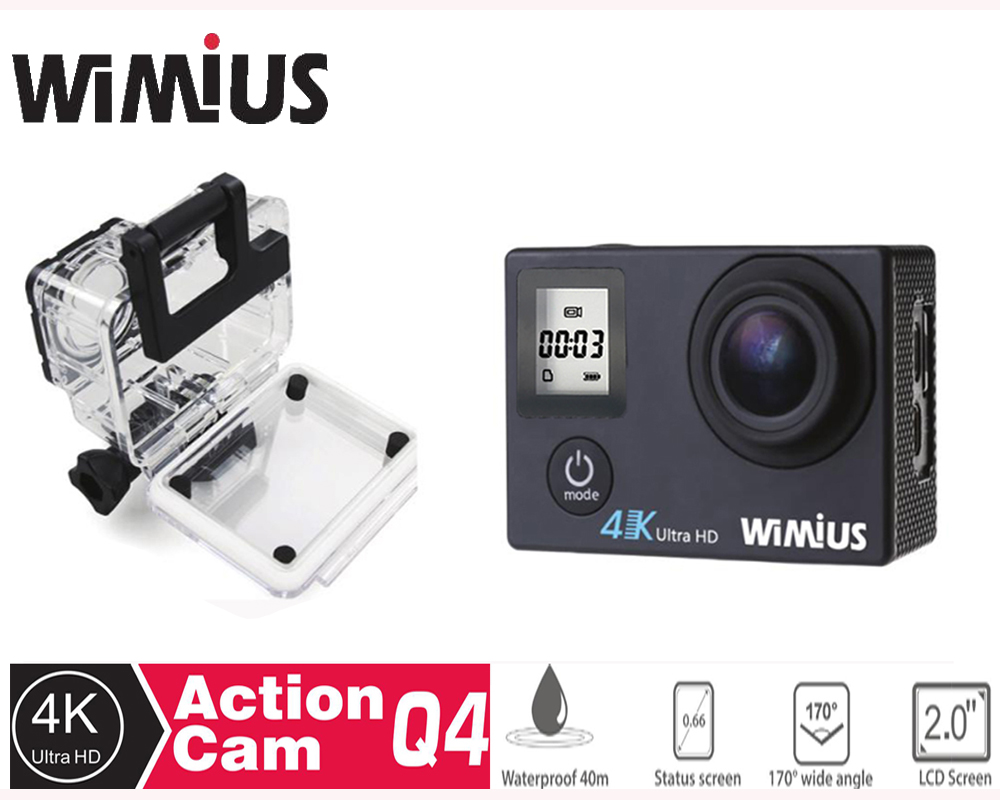 ФОТО Wimius 4K Wifi Action Camera 1080p /60fps Mini Video Helmet Sports Camara DV Car Camcorder DVR go Waterproof 40M pro+2 Batteries