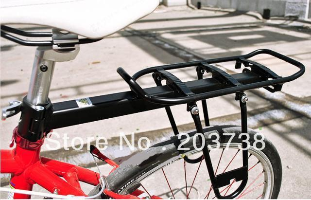 Alloy Bicycle Carrier with Pannier, Bike Rack, Bicycle goods shelf Maximum Loading Weight 20 KGS
