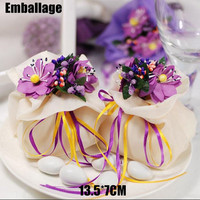Umbrella Bag Bags Fashion Drawstring Candy 10pcs/lot Mix Colors Flower Square Packing Drawable Organza 13.5*7cm Wedding