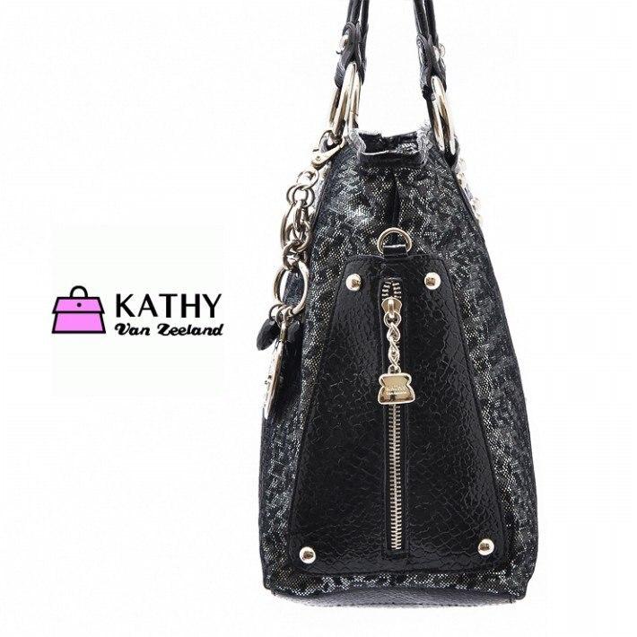 9c1234ffb3 KATHY Van Zeeland Black Leopard print Handbag OL TOTE BAG Shoulder Bag-in  Shoulder Bags from Luggage & Bags on Aliexpress.com | Alibaba Group