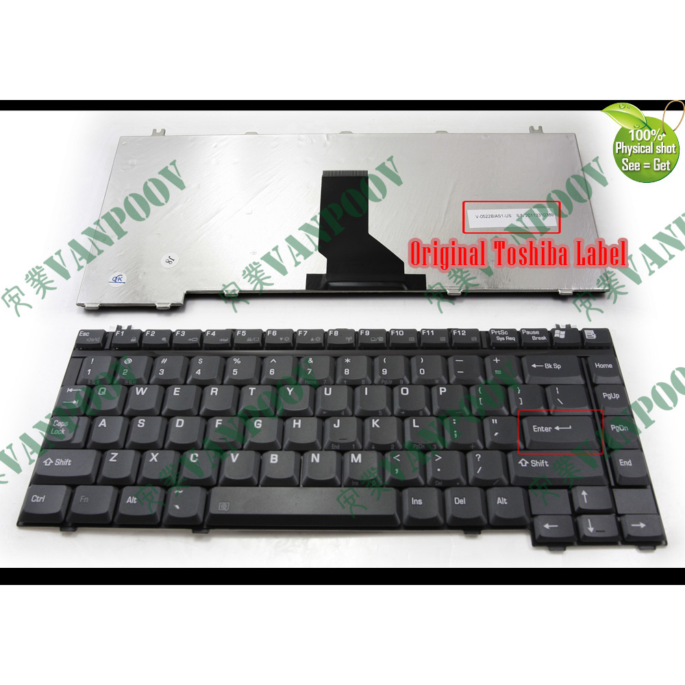 Original Keyboard Toshiba Satellite C660 Series German Matte Black Toshiba