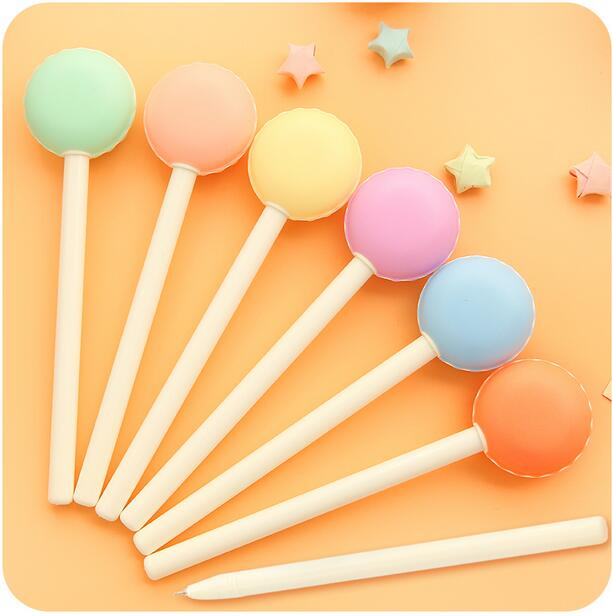 B15 2X Cute Candy Macaron Gel Pen Student Writing Pens School Office Supply Stationery Promotion Gift  Rewarding